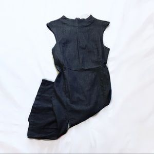 zara ⋆ denim slit dress
